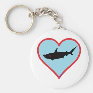 great hammerhead shark keychain