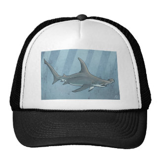 Great hammerhead shark trucker hat