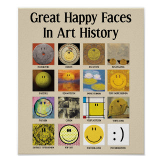 Great Happy Faces In Art History Poster