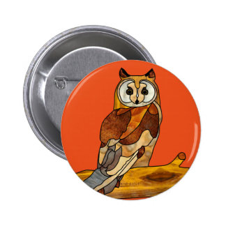 Great Horned Owl 2 Inch Round Button