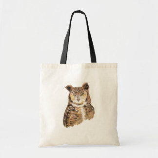 Great Horned Owl Bird Nature Tote Bag