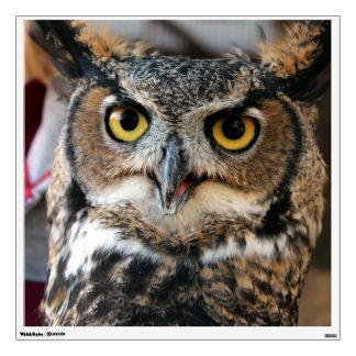 Great Horned Owl (Bubo virginianus) Wall Decal