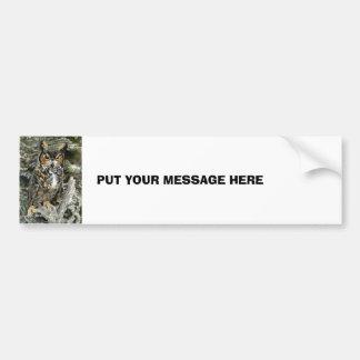 Great Horned Owl Bumper Sticker