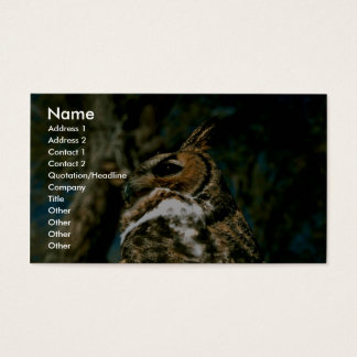 Great Horned Owl Business Card