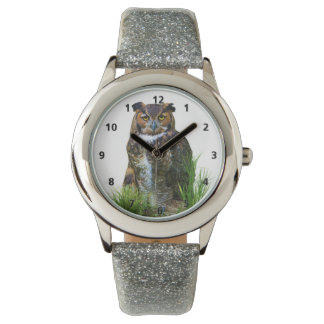 Great Horned Owl Customizable Watch