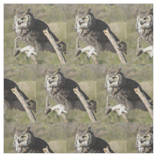 Great Horned Owl Fabric