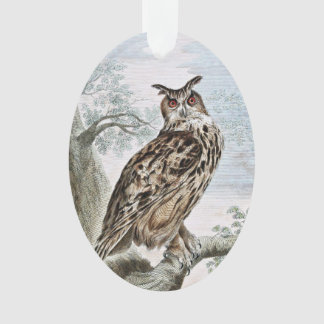 Great Horned Owl Illustration Ornament