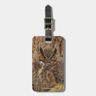 Great Horned Owl in the Douglas Fir Luggage Tag