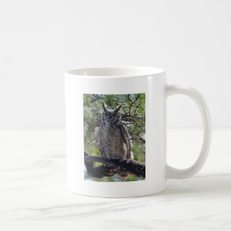 Great Horned Owl in the Tree Coffee Mug