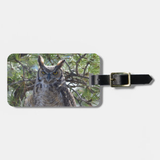 Great Horned Owl in the Tree Luggage Tag