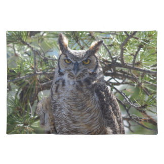 Great Horned Owl in the Tree Placemat