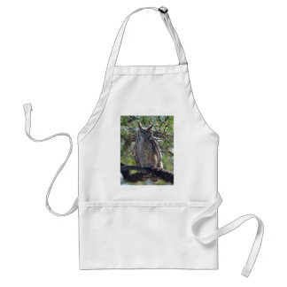Great Horned Owl in the Tree Standard Apron