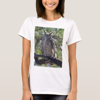 Great Horned Owl in the Tree T-Shirt