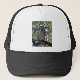 Great Horned Owl in the Tree Trucker Hat