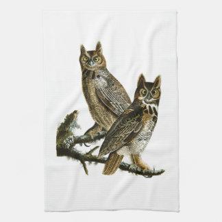 Great Horned Owl John Audubon Birds of America Kitchen Towel