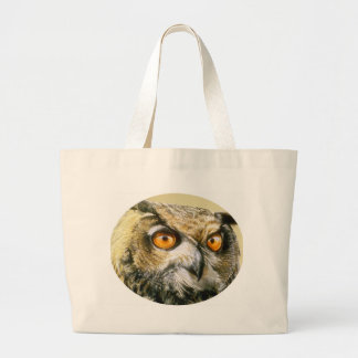 Great-Horned-Owl Large Tote Bag