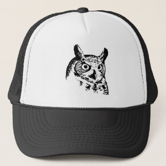 Great Horned Owl Logo Trucker Hat