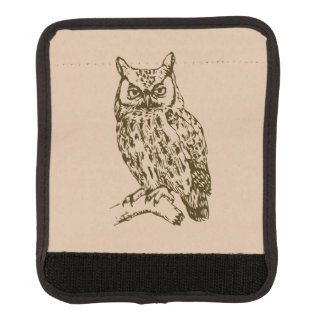 Great Horned Owl Luggage Handle Wrap