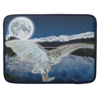 Great Horned Owl & Moon Wildlife MacBook Sleeve Sleeve For MacBooks