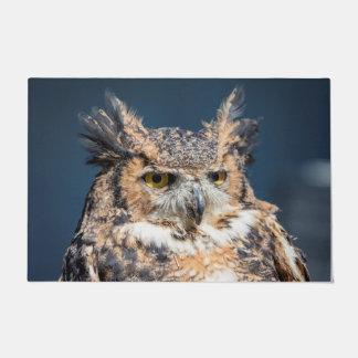 Great Horned Owl Portrait Doormat