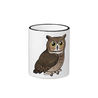 Great Horned Owl Ringer Coffee Mug