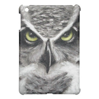 Great Horned Owl Tiger Owls Charcoal Drawing Cover For The iPad Mini