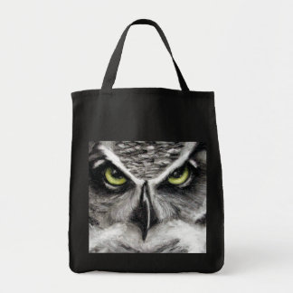Great Horned Owl Tiger Owls Charcoal Drawing Tote Bag