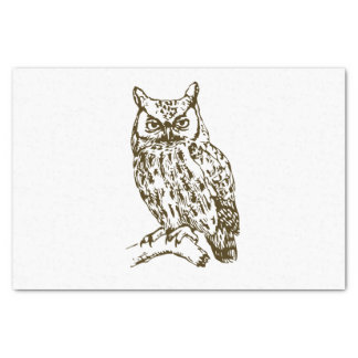 Great Horned Owl Tissue Paper