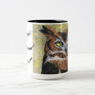 Great Horned Owl Two-Tone Coffee Mug