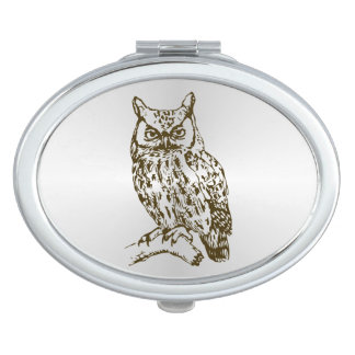 Great Horned Owl Vanity Mirror