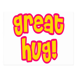 Great Hug Postcard