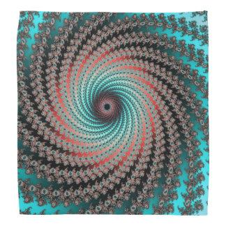 Great Hypnotic Swirl - black, bordeaux, turquoise Bandana