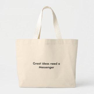 Great ideas need a Messenger Jumbo Tote Bag
