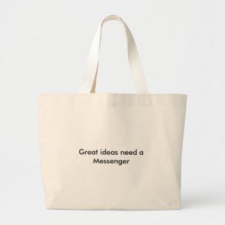 Great ideas need a Messenger Large Tote Bag