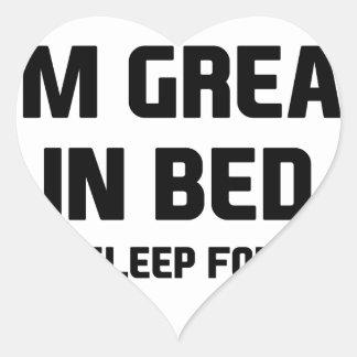 Great in Bed Heart Sticker