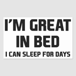 Great in Bed Sticker