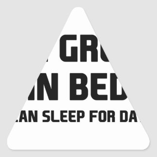 Great in Bed Triangle Sticker