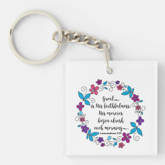 Great is His Faithfulness keychain