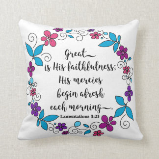 Great is His Faithfulness pillow