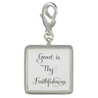 Great is Thy Faithfulness Inspirational Quote Charm