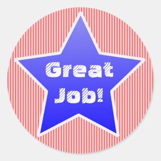 Great Job Award Stickers