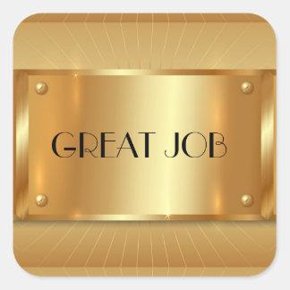Great Job, Medal Gold, Custom Square Sticker