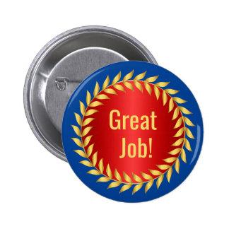 Great Job Motivational Award 2 Inch Round Button