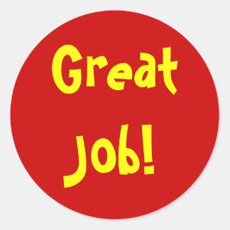 Great Job! Round Sticker