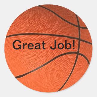 Great Job! School Basketball Sticker