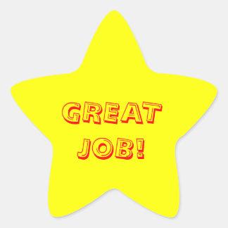Great Job Star Sticker