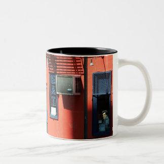GREAT JONES CAFE, East Village, NYC Two-Tone Coffee Mug