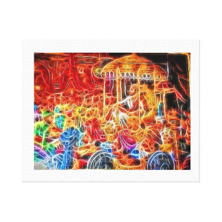 Great King in his court Canvas Print