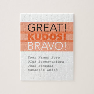Great! Kudos! Bravo! Puzzle, Customizable Jigsaw Puzzle
