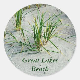 Great Lakes Beach Classic Round Sticker